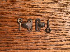 Early Original Globe Wernicke Bookcase Door Hinge Assemblies