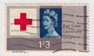 1963 Great Britain - 100th Anniversary of Red Cross - 1'3 Sh Stamp
