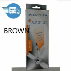 Ceiling Fan Sleeves / Socks BROWN Pirrella Blade Covers  Capture Dust 12PK