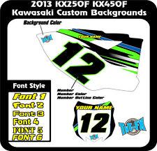 Kawasaki 2013 KX250F/KX450F Custom MX Background Graphics  USA