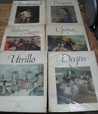6 Books of 16 Beautiful Prints Includes Rembrandt, Picasso, Toulouse etc,USC#389