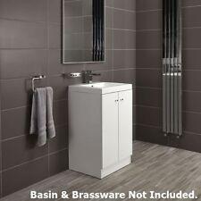 Alpine Duo 500 Floor Standing Bathroom Vanity Cabinet - White Gloss - Soft Close