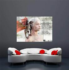 GAME OF THRONES DAENERYS TARGARYEN TV PHOTO QUOTE DRAGON GIANT ART POSTER OZ235