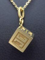 JETTE JOOP Anhänger Halskette pendant 750 GOLD 18 Karat Designer Schmuck Würfel