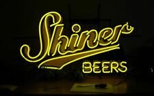 "New Shiner Beer Texas Neon Sign Beer Bar Pub Gift Light 20""x16"""