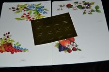 8 Vtg 90's Paralyzed Veterans of Amer. FRUIT FLOWER Postalettes Seals 2 Designs