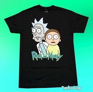 New Rick and Morty Black Cartoon Network Adult Swim Mens T-Shirt