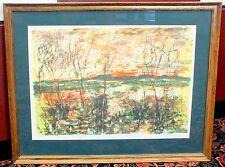 Bertoldo Taubert Wall Art Landscape Lithograph Artist Signed Limited Ed.171/275