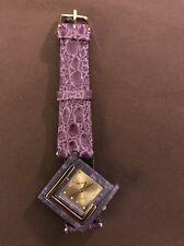 Pierre Vintage Ladies Wristwatch Watch Purple Leather Band