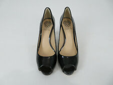 Vince Camuto Kiley Patent Black Leather Peep Toe Heel Womens Size 7M