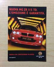 CARTOLINA - PUBBLICITA' AUTO - NUOVA MG ZR 115 TD - MG ROVER -NON VIAGGIATA -NEW