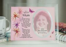 Mothers day Gift Special Mum Glass Photo Holder gift Birthday Christmas Present