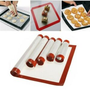 Microwave Oven Tray Sheet Baking Mat Pastry Cookies Cake Silicone Glass Fiber