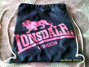 LONSDALE DRAWSTRING BAG (NEW) NO RESERVE+++++++