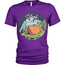 Silent Night T-Shirt Camp Zelt Camping Unisex Herren