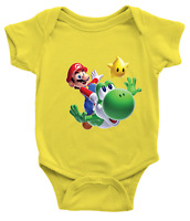 Infant Baby Bodysuit Romper Clothes Jumpsuit Yoshi Luma Star Super Mario Galaxy
