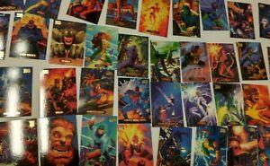 *MINT* 1994 Marvel Masterpieces Gold Foil Signature Series Set Complete 1-140