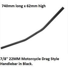 7/8'' 22MM Bar Motorcycle Drag Style Bar Handlebar Honda Harley Custom Black