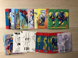Superman: Action Packs Trading Cards base set single cards by SkyBox Fleer 1996