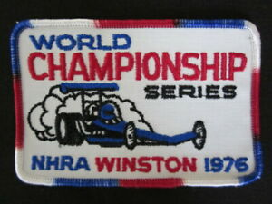 1976 N. H. R. A. Winston WORLD CHAMPIONSHIPS Patriotic Embroidered Patch MINT