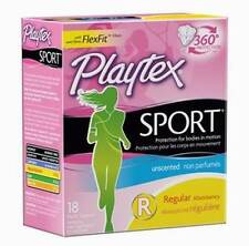 Playtex Sport Tampons,  unscented, Regular, 18 ea/2 pack