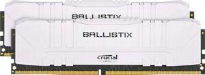 White Crucial Ballistix 16GB (2x 8GB) 3600MHz CL16 DDR4 RAM