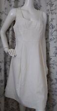 Designer LK BENNETT Anne dress size 18 --NEW WITH TAGS-- off white below knee