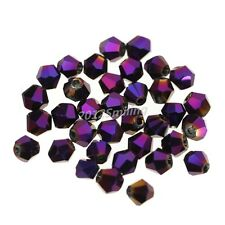 200pcs 4mm Bicone 5301# Faceted Crystal Glass Loose Spacer Beads AAA