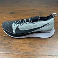 New Mens Nike Zoom Fly Flyknit Oreo Black White Running Shoes Sz 10.5 BV6103-001