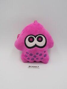 "Splatoon Inkling B3007 Pink Squid Zipper Bag Pouch 2015 Plush 4"" Toy Doll japan"