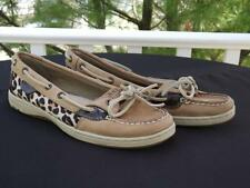 Sperry Top Sider Angelfish Pony Hair Leopard Print Boat Shoes Flats 7 M 9102146