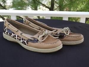 Pony Hair Leopard Moccasin Loafer Flats by Sperry 7 M