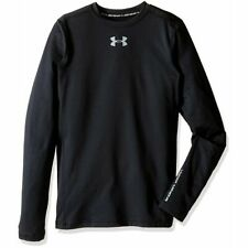 Under Armour Boys' UA ColdGear Armour Compression Crew (XL, Black) 1288344