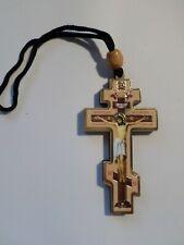 Gold Wood Cross 9 X 5 cm Car  Home Amulet Jesus Christ Crucifix Крест Для Машины