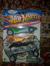 2010 Hot Wheels Crazerasers Collectible Puzzle Erasers 3 Pack 9570511 New