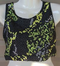 b4d75bff92dae CAELUM DAKOTA WIRELESS SPORTS RACER CUT OUT BRA BLACK GREEN  CVM8004 XLARGE   48
