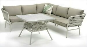 Outdoor Corner Lounge set Aluminium with Thick SOFT TUBE WICKER features