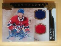 Max Domi 2019 20 Artifacts Autograph /25 Dual Jersey Montreal Auto