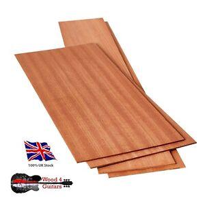 Acoustic Guitar Back And Sides Set Sapele Tonewood Luthier 4 Pieces
