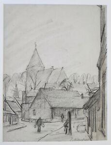"""Kliefert, Erich(1893 Berlin–1994 Stralsund)""""Straßenpartie in Richtenberg/Pommern"""