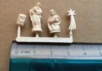 Four Piece Christmas Nativity Figures (Ivory Colour) Doll House Miniatures