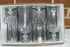 Set 4 J.G. Durand Cristal d'Arques Longchamp Crystal Goblets 36 cl 12 oz MIB