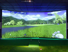 Hanaro Vision Plus 3D Golf Simulator 3-Screen Realistic Training Play SEE VIDEO