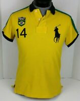 POLO BY RALPH LAUREN BRAZIL R.L.P.C. #14 RUGBY MENS POLO SHIRT SIZE SMALL S RARE