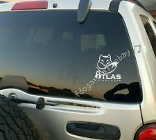 "ZORROS DEL ATLAS ZORRO CUT DECAL STICKER, CALCA  5""X 5.50"""