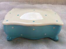 VINTAGE 1940 S Royal Winton Ceramica a Pois Ciondolo PENTOLA + COPERCHIO-Regalo di Natale!