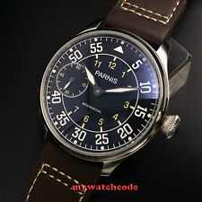 44mm parnis black dial ST3600 hand winding 6497 mechanical mens watch P647