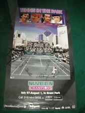 NUVEEN CHAMPIONS TENNIS IN THE PARK SIGNED POSTER CONNERS MCENROE NOAH VILAS +