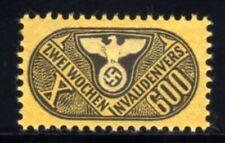 470-GERMAN EMPIRE-Third reich.WWII.NAZI Stamp Revenue 2 WEEKS INVALIDENVERS.MNG