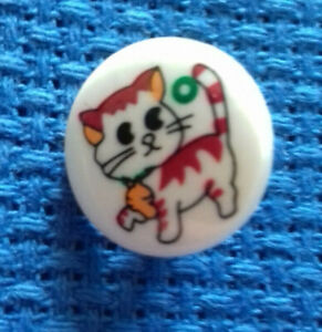 A pack of 6 Childrens 15mm cat design Buttons -